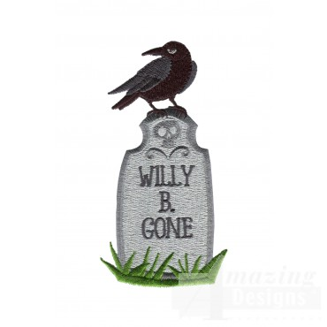 Willy B Gone Grave Situation Embroidery Design
