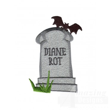 Diane Rot Grave Situation Embroidery Design