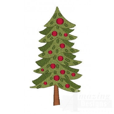 Christmas Tree 2 A Very Merry Embroidery Design