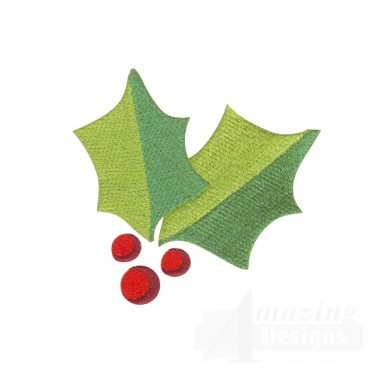 Holly A Very Merry Christmas Embroidery Design
