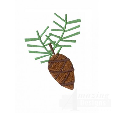 Pine Cone A Very Merry Christmas Embroidery Design