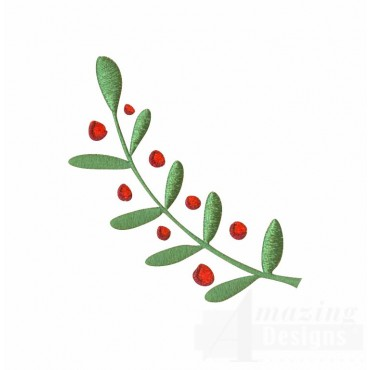 Decorative Branch Christmas Embroidery Design