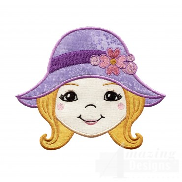 Girl Holiday Face Applique