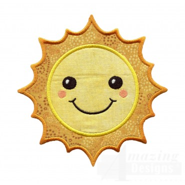 Sun Holiday Face Applique