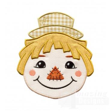 Scarecrow Holiday Face Applique