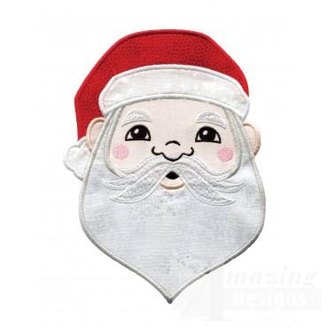Santa Holiday Face Applique