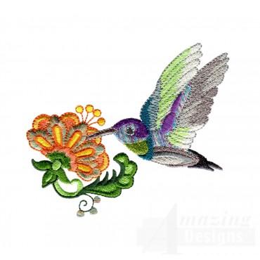 Hummingbird 2 Embroidery Design