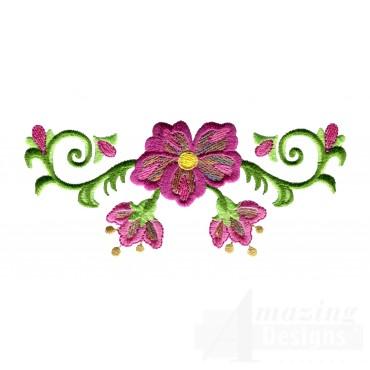 Hummingbird Flower 3 Embroidery Design