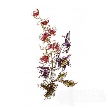 Artists Garden Flower Group 2 Embroidery Design