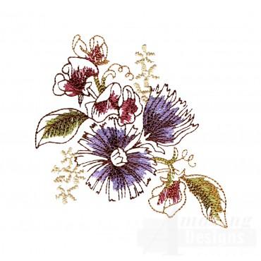 Artists Garden Flower Group 8 Embroidery Design
