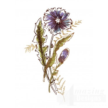 Artists Garden Flower Group 9 Embroidery Design