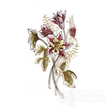 Artists Garden Flower Group 13 Embroidery Design