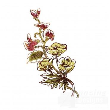 Artists Garden Flower Group 20 Embroidery Design