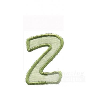 Lower Case Z Applique Embroidery Design