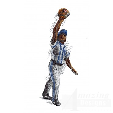 Good Catch Game Day Baseball Embroidery Design