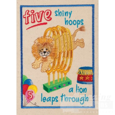 Five Hoops My Circus Book  Embroidery Design