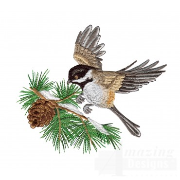 Swnss205 Chickadee Symphony Embroidery Design