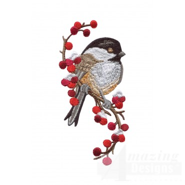 Swnss213 Chickadee Symphony Embroidery Design