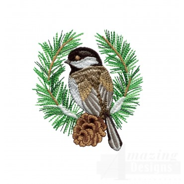 Swnss216 Chickadee Symphony Embroidery Design