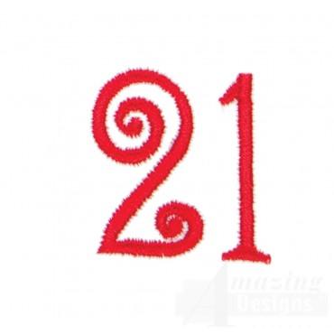 Number 21 Advent Christmas Tree Design