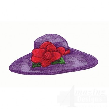 Purple Hat with Red Flower