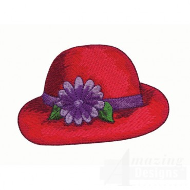 Red Hat with Purple Flower