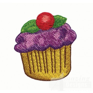 Cupcake with Purple Frosting