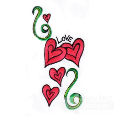 Hearts with Vine