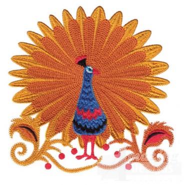 Jacobean Peacock 7