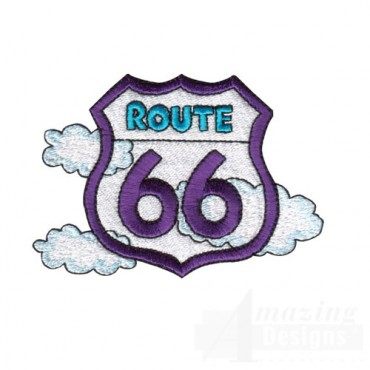 Route 66 With Clouds