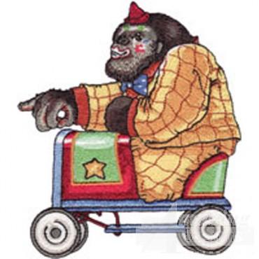 Gorilla In Small Car
