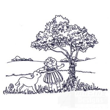 Girl And Lamb
