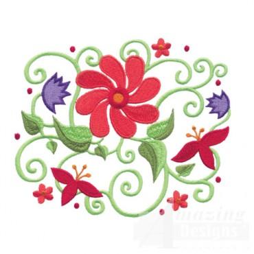 Jacobean Flower 1