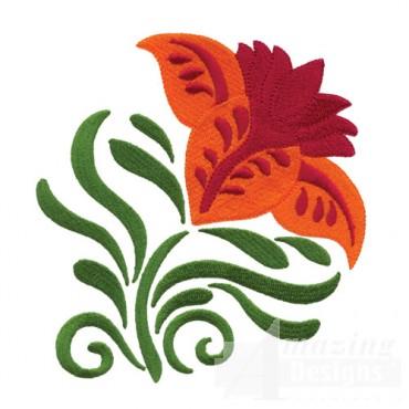 Jacobean Flower 4