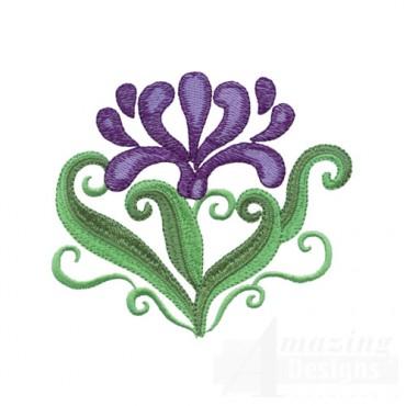 Jacobean Flower 10