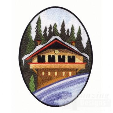 Scenic Winter Cabin