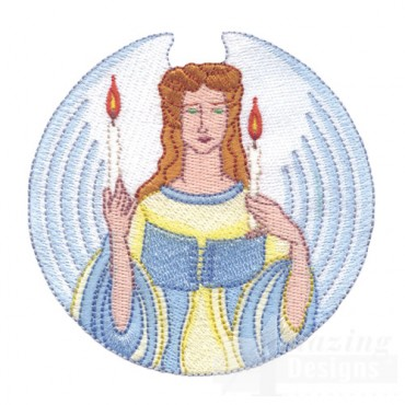 Angel With Candles