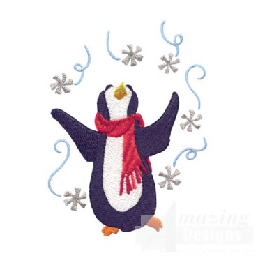 Penguin With Snowflakes
