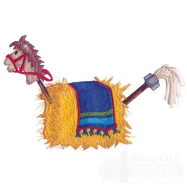 Hay Bale Horse