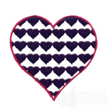 2 Inch Heart Fill Stitch