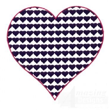 4 Inch Heart Fill Stitch