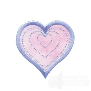 Radiating Heart Quilted Center 1