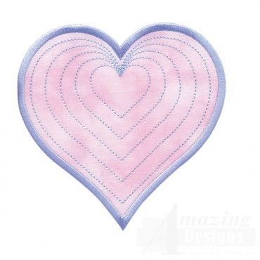Radiating Heart Quilted Center 3