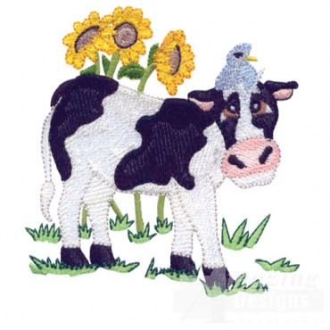 Cow With Bird