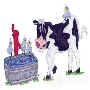 Cow At Water Tank