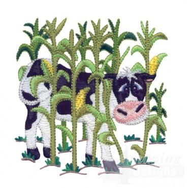 Cow In Corn