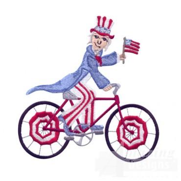 Uncle Sam On Bike
