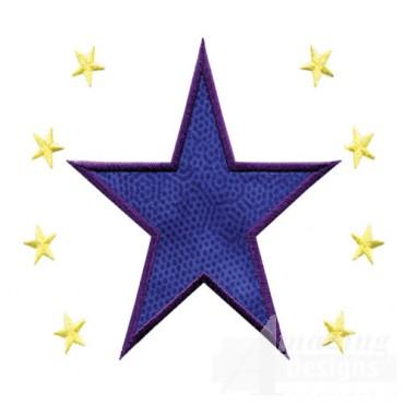 4 Inch Sprinkle Filled Stars