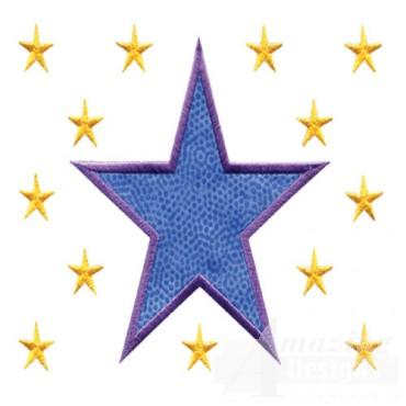 4 Inch Sprinkle Filled Stars 2