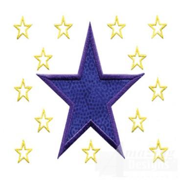 3 Inch Sprinkle Outline Stars2